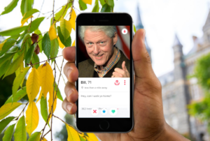 Heckler NIP Bill Clinton Unveils New Tinder Profile For Campus Return